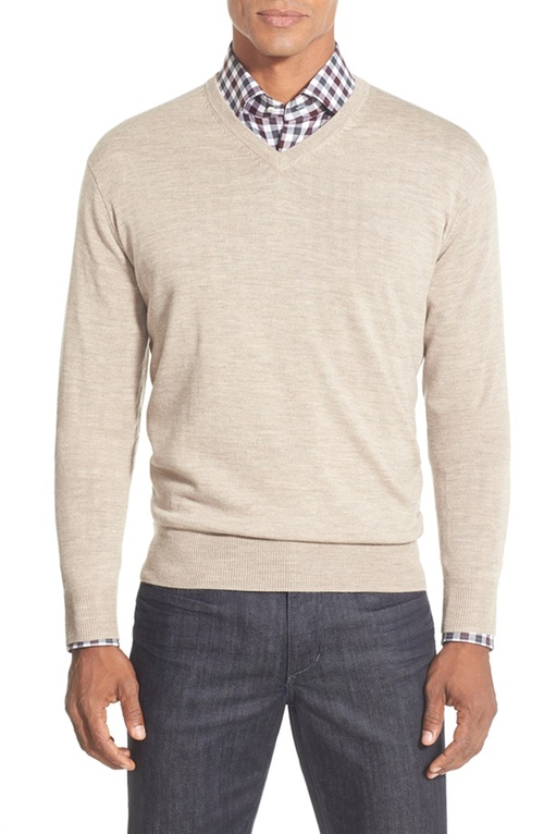 Merino V-Neck Sweater by Peter Millar in Our Brand Is Crisis