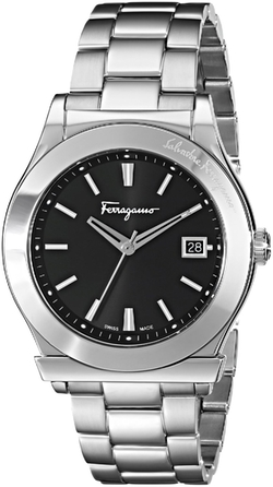 Analog Display Quartz Silver Watch by Salvatore Ferragamo in Suits