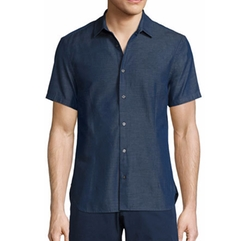 Morton Chambray Tailored Short-Sleeve Sport Shirt by Orlebar Brown in Transformers: The Last Knight