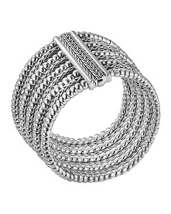 Classic Chain Silver Multi-Row Bracelet by John Hardy in The Counselor