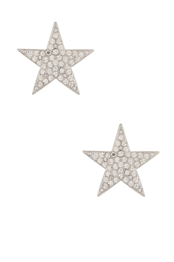 Pave Crystal Star Clip-On Earrings by Kenneth Jay Lane in Pretty Little Liars