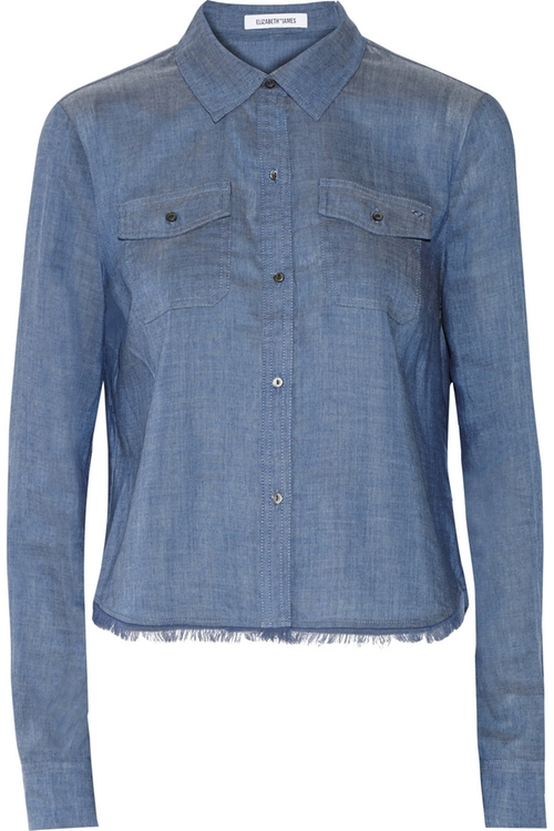 Buckley Chambray Shirt by Elizabeth And James in New Girl