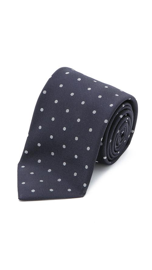 Dotted Tie by Drake's in Yves Saint Laurent