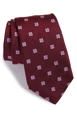 'Twill Ground Neat' Medallion Silk Tie by Ike Behar in Ballers