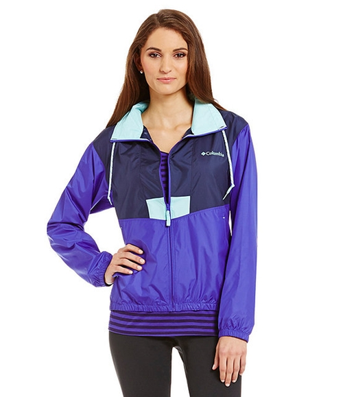 Flashback Windbreaker Jacket by Columbia in Scream Queens - Season 1 Episode 1