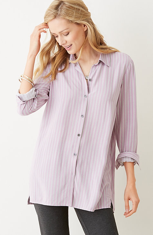Striped Button-Front Shirt by J. Jill in Nashville - Season 4 Episode 5