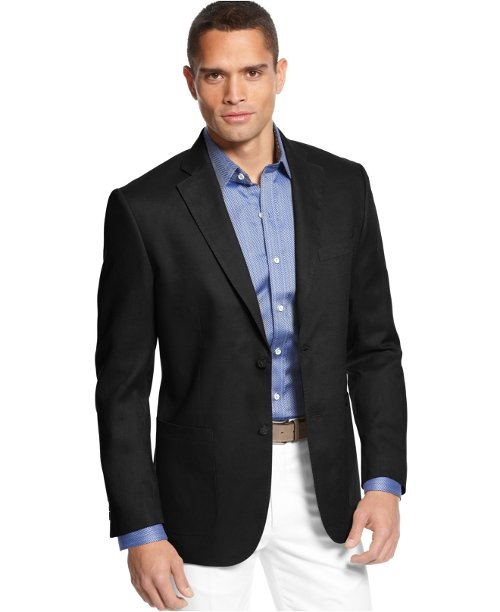 Island Solid Linen 2-Button Blazer by Tasso Elba in The Wolverine