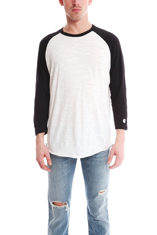 3/4 Sleeve Baseball Tee by Todd Snyder in Daddy's Home