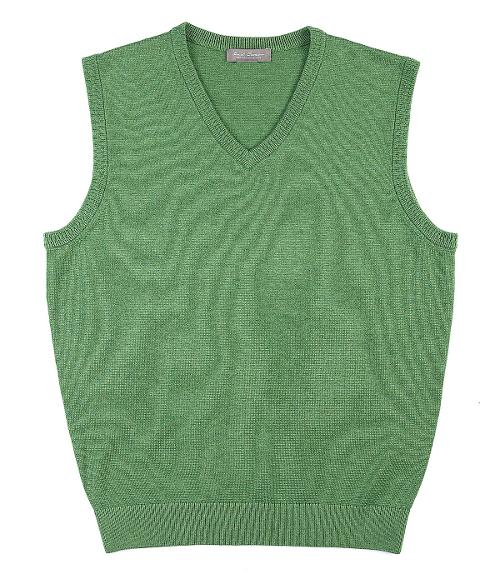 Supima V-Neck Sweater Vest by Daniel Cremieux Signature in What If