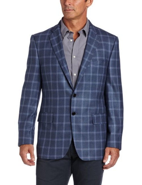 Men's Plaid Sport Coat by Joseph Abboud in No Strings Attached