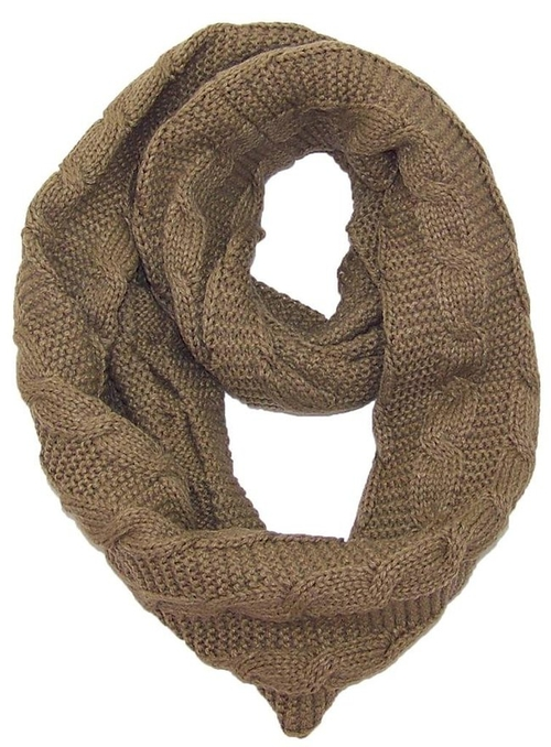Stitch Knit Infinity Scarf by Best Winter Hats in The Hateful Eight