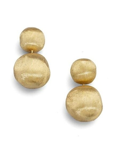 Africa Yellow Gold Ball Drop Earrings by Marco Bicego in Bridesmaids