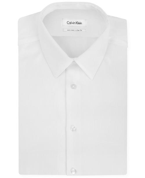 Slim-Fit Non-Iron Textured Solid Dress Shirt by Calvin Klein in The Disappearance of Eleanor Rigby