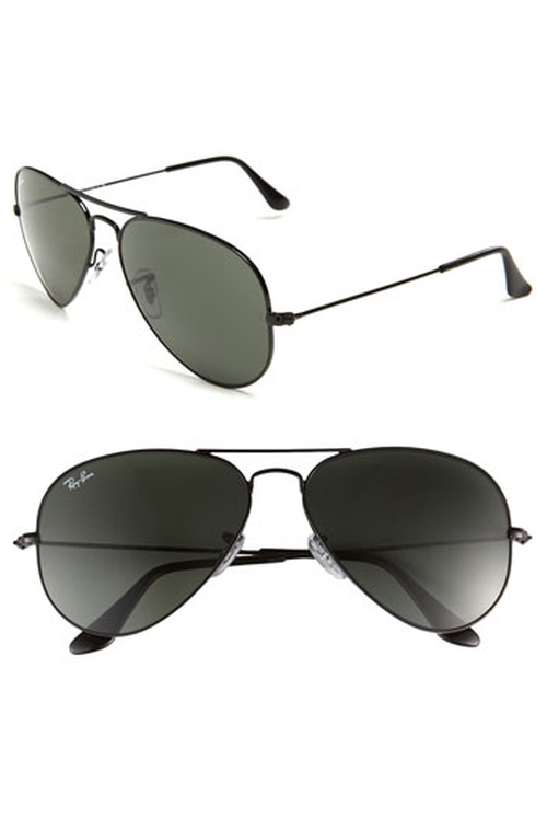 'Original Aviator' Sunglasses by Ray-Ban in Black Mass
