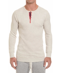 Waffle-Knit Henley Shirt by 2xist in Joshy