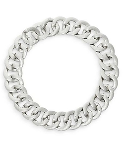 Hammered Chunky Link Collar Necklace by Adriana Orsini  in Supergirl