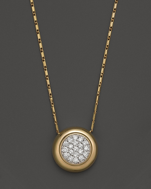 Diamond Pavé Pendant Necklace in 14K Yellow Gold by Bloomingdale in Addicted