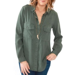 Flap Button Top by Bella Dahl in Rosewood