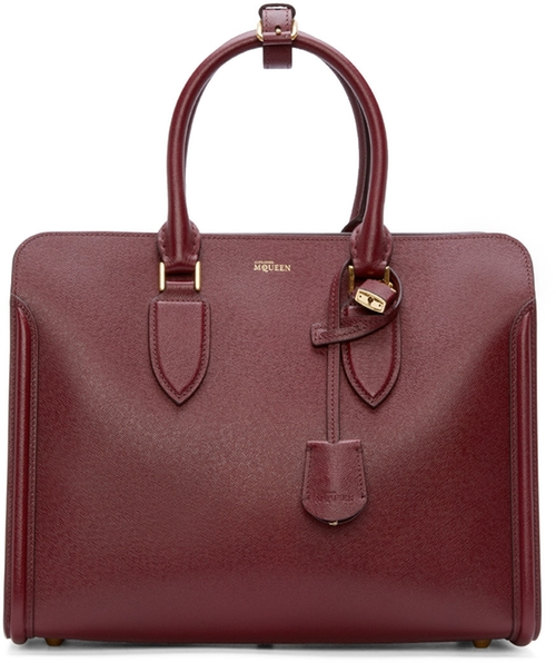Burgundy Leather Heroine Tote Bag by Alexander Mcqueen in Suits - Season 5 Episode 9