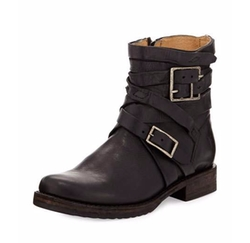 Veronica Strappy Short Engineer Boots by Frye in Love