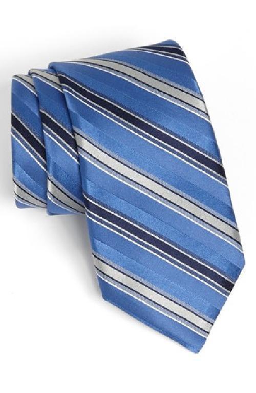 'Wilton' Stripe Silk Tie by Michael Kors in Million Dollar Arm