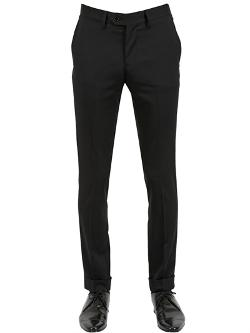Stretch Wool Gabardine Pants by Montezemolo in No Strings Attached