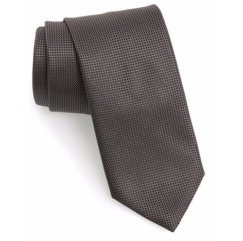 Solid Silk Tie by Canali in House of Cards