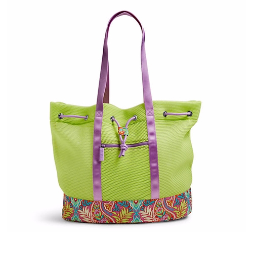 Citrine with Paisley in Paradise Mesh Tote Bag by Vera Bradley in The Boss