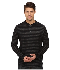 Plated Jersey Knit Henley Shirt by London Fog in Arrow