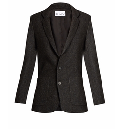 Speckled-Tweed Blazer by Raey in Power