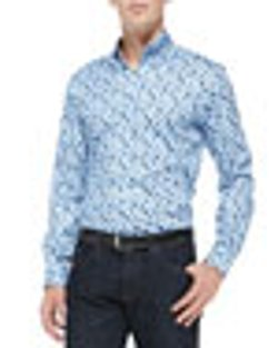 Small-Paisley Printed Poplin Shirt by Etro in The Other Woman