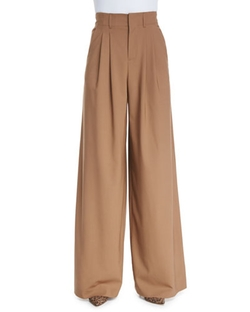 Pleated Wide Leg Trousers by Alice + Olivia in Scandal