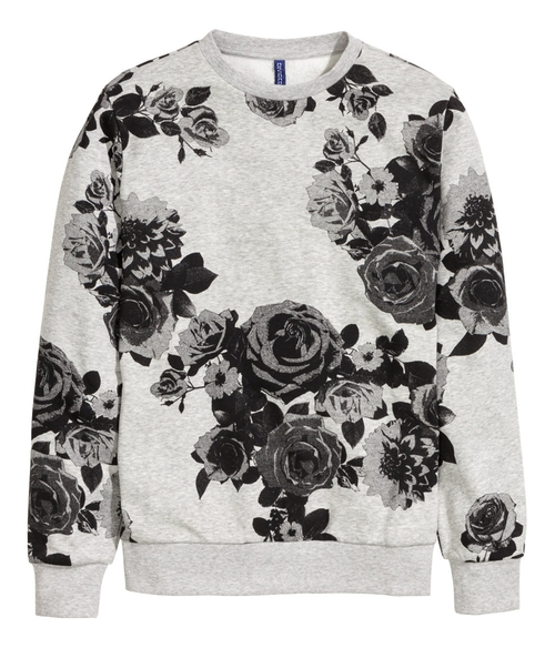 Graphic Floral Print Sweatshirt by H&M in New Girl - Season 5 Episode 6