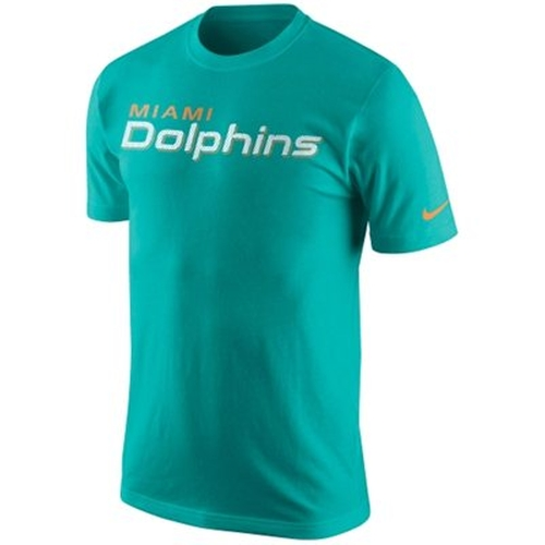 Aqua Miami Dolphins Wordmark T-Shirt by Nike in Ballers - Season 1 Episode 10