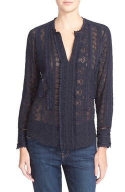 Embellished Silk Chiffon Top by Rebecca Taylor in Modern Family