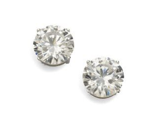 Sterling Silver Stud Earrings by Adriana Orsini in Miss Sloane