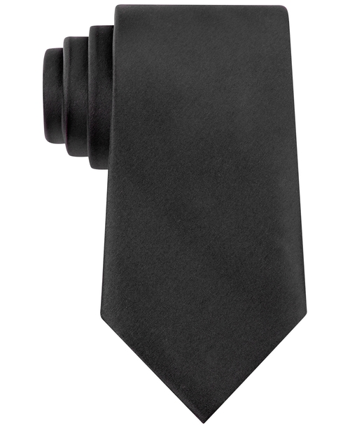 Solid Sateen Extra Long Tie by Geoffrey Beene in Regression