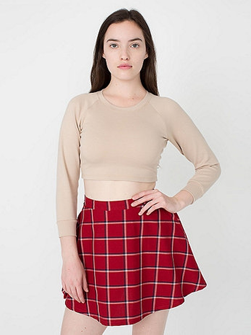 Plaid Circle Skirt by Americal Apparel in Barely Lethal