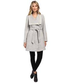 Basketweave Wrap Coat by Jessica Simpson in Supergirl