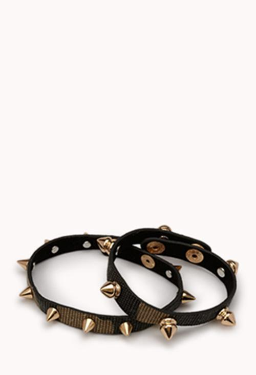 Spiked Camo Cuff Set by Forever21 in Neighbors
