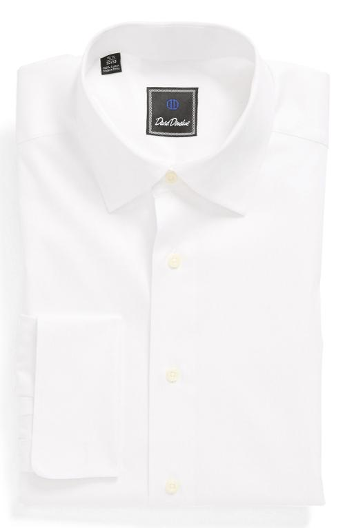 Twill French Cuff Regular Fit Dress Shirt by David Donahue in Frank Miller's Sin City: A Dame To Kill For