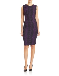 Asymmetrical Sleeveless Bodycon Dress by Anne Klein in The Vampire Diaries
