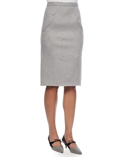 Double-Face Cashmere Skirt by Carolina Herrera in Suits