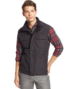 Quilted Zip-Front Vest by Vince Camuto in The Boy