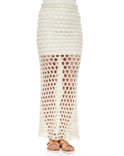 Oletta Open-Weave Maxi Skirt by Iro in Keeping Up With The Kardashians - Season 11 Episode 6