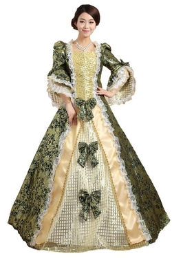 Victorian Gothic Marie Antoinette Dress by Royal Dress in Crimson Peak