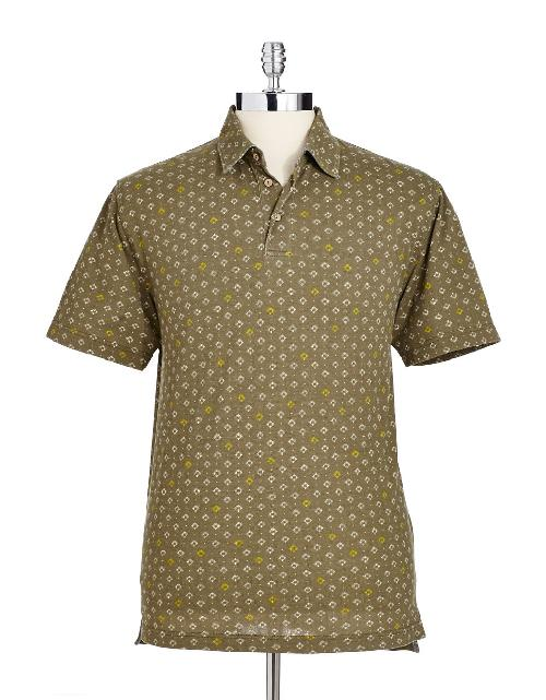 Patterned Cotton Polo by BLACK BROWN 1826 in Million Dollar Arm