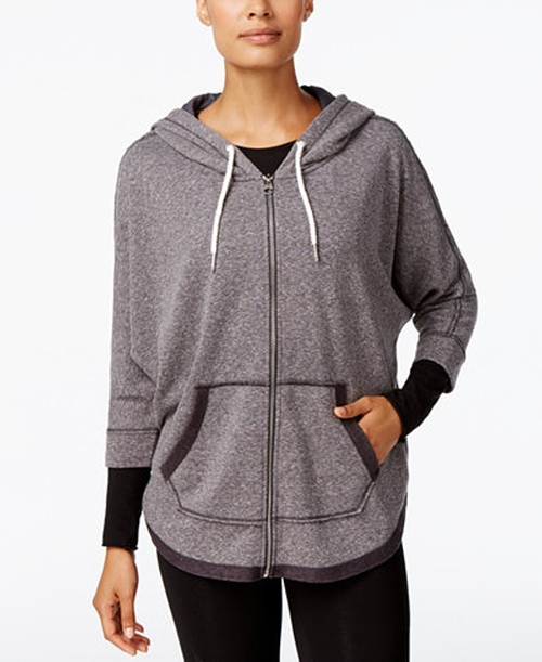 Performance Dolman Zip Hoodie by Calvin Klein in Rob & Chyna