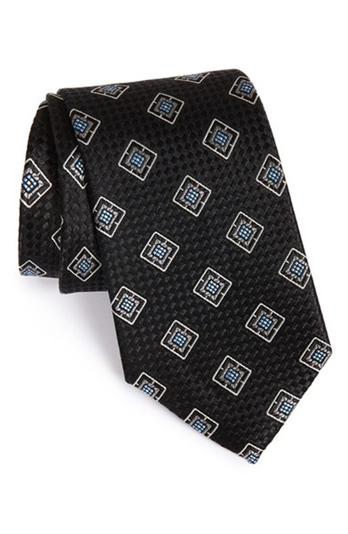 Square Medallion Silk Tie by Nordstrom in The Blacklist - Season 3 Episode 10