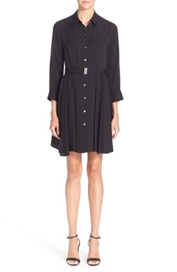'Jaylis' Silk Shirt Dress by Theory in Knocked Up